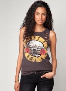 guns and roses camiseta bershka